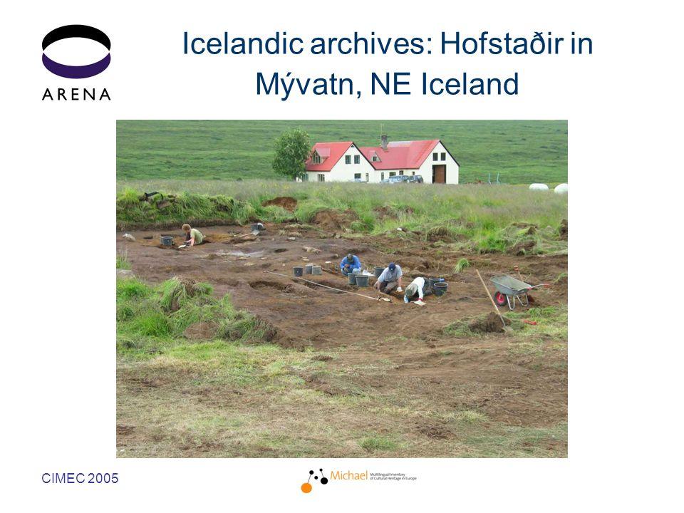 CIMEC 2005 Icelandic archives: Hofstaðir in Mývatn, NE Iceland