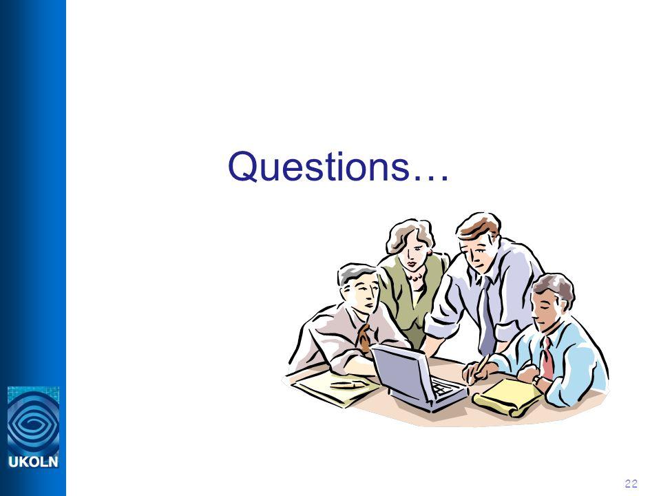 22 Questions…
