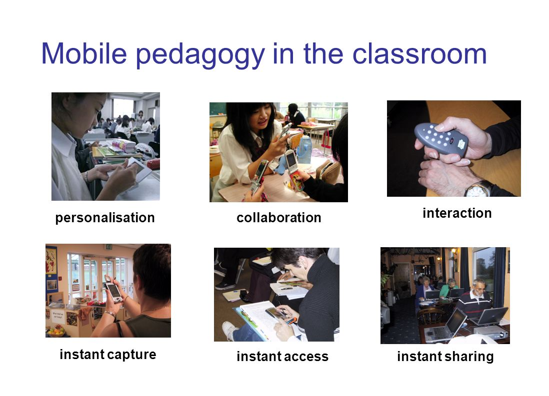 The Open University s Institute of Educational Technology Mobile pedagogy outside the classroom Connecting education with work-based learning Connecting leisure activity and informal learning Connecting classroom and field learning