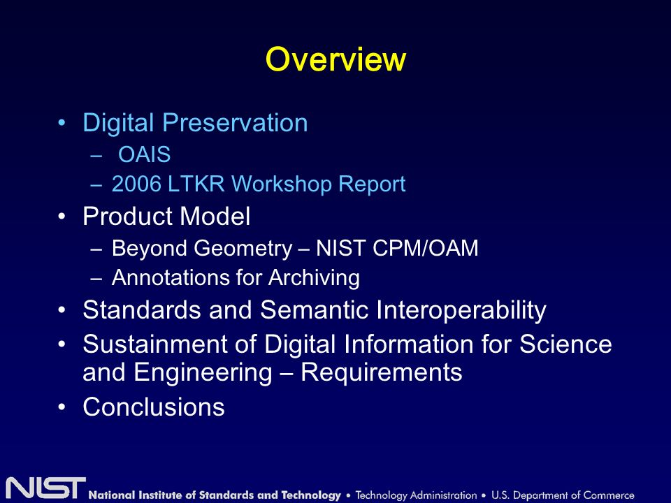 Digital Preservation – A Status check Terry Kuny 1 listed various issues of archiving in his 1997 paper Increasing loss of digital informationIncreasing loss of digital information Information explosion Proliferation of digital formats with hardware and software dependencies.