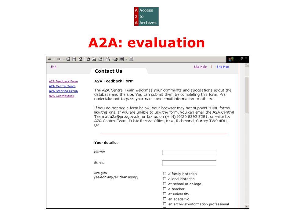 A2A: evaluation