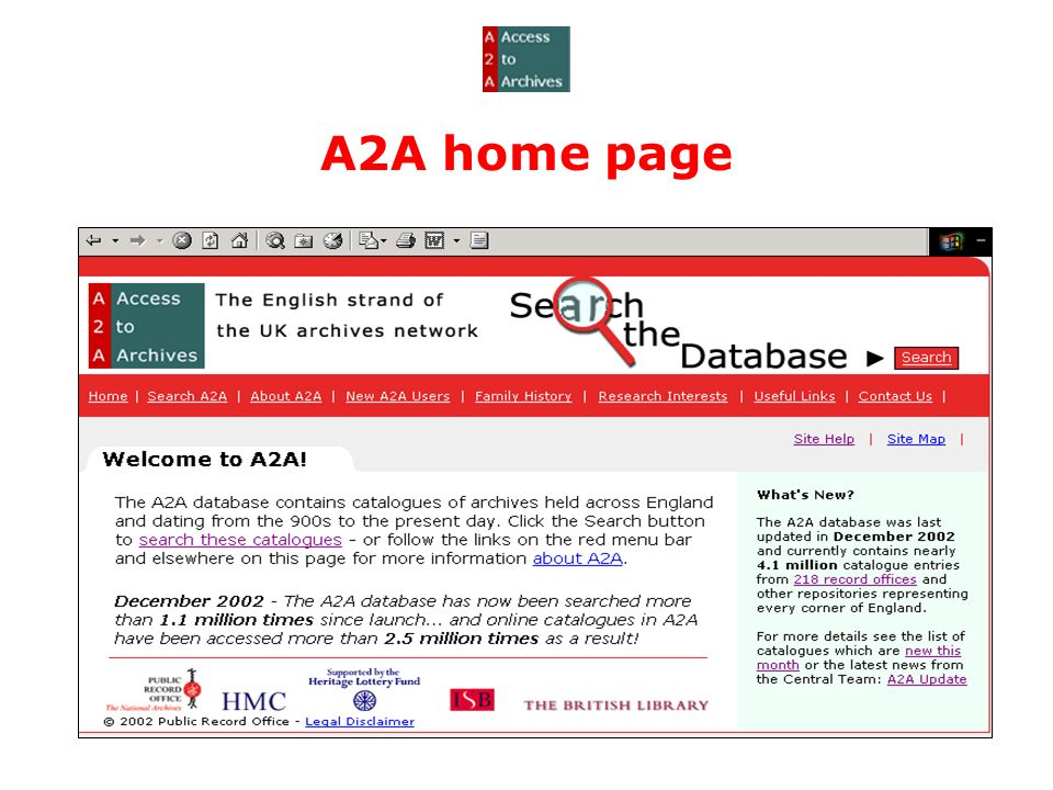 A2A home page