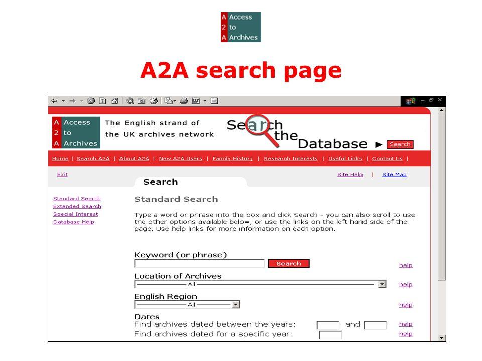 A2A search page