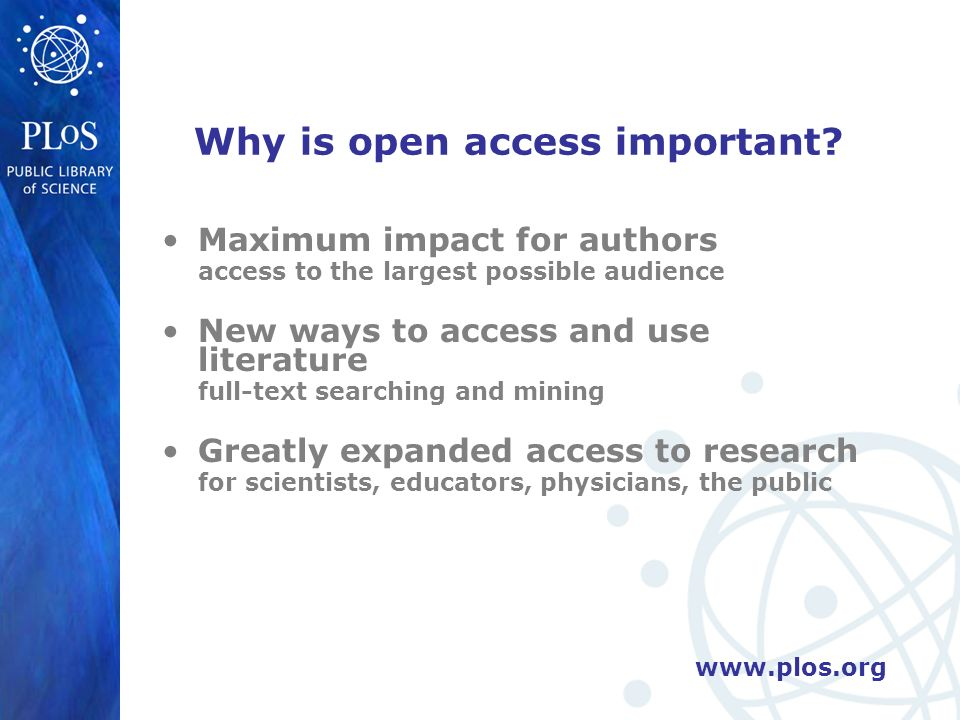 Why is open access important.
