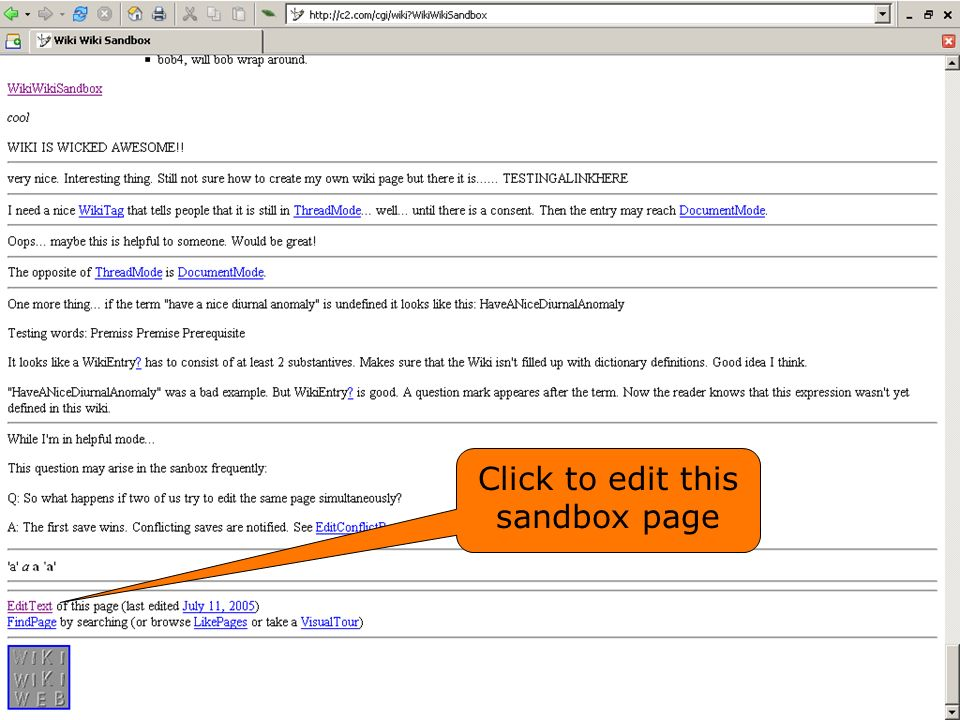 Click to edit this sandbox page