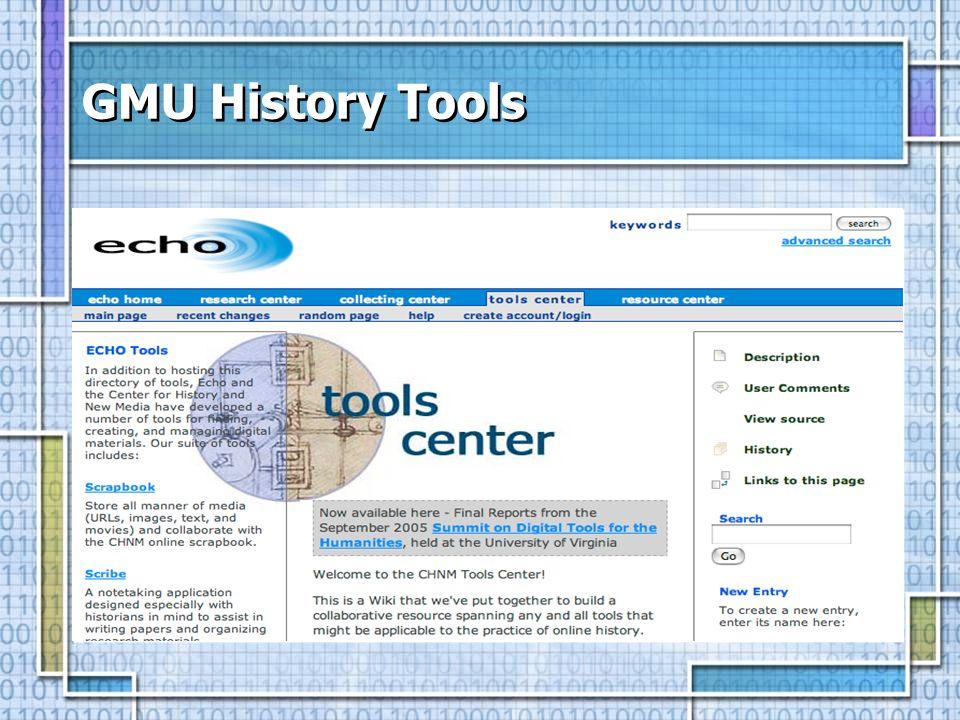 GMU History Tools