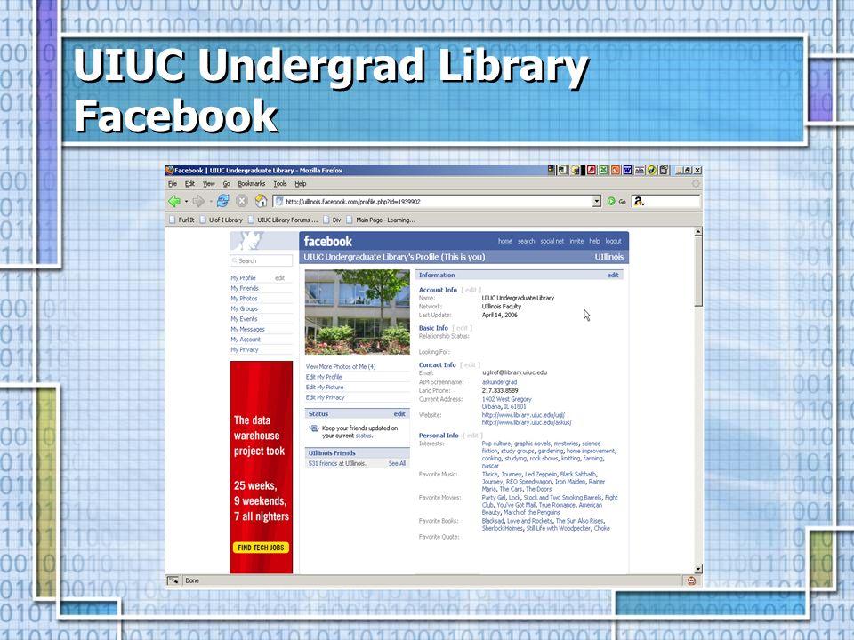 UIUC Undergrad Library Facebook