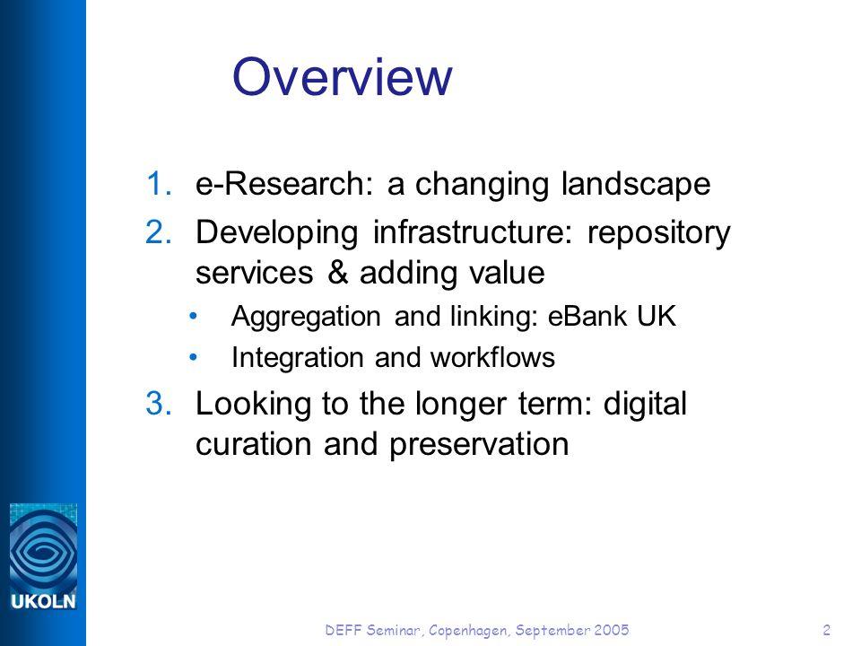 1. e-Research: a changing landscape