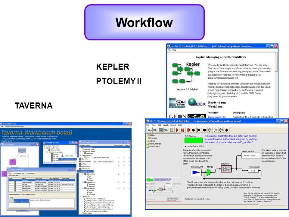 Workflow KEPLER PTOLEMY II TAVERNA