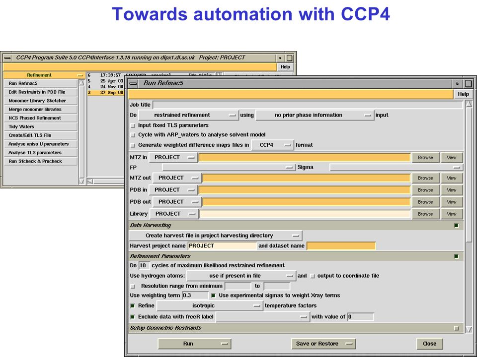 Towards automation with CCP4