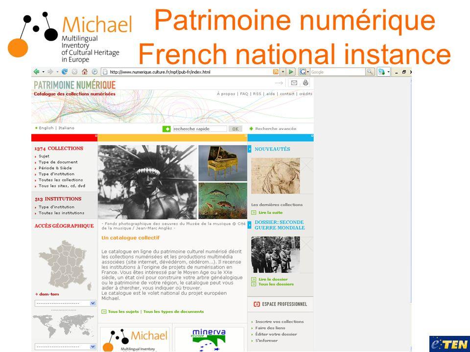 Patrimoine numérique French national instance