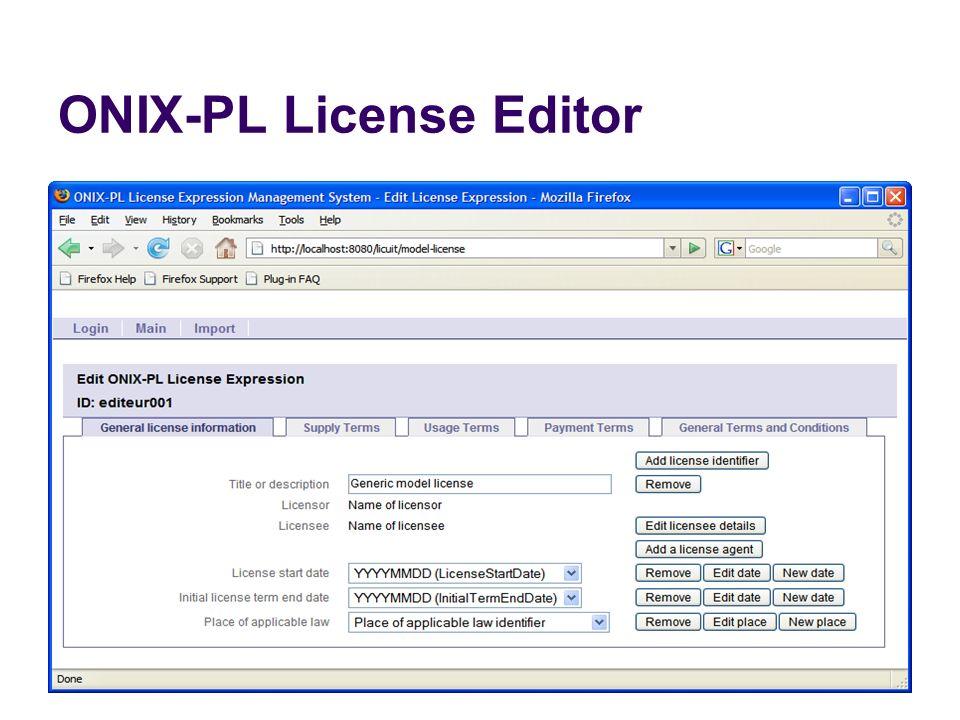 ONIX-PL License Editor