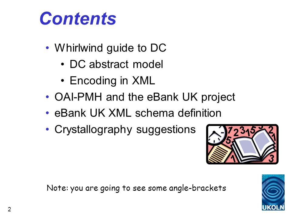 53 eBank_dc schema (cont.) http://ecrystals.chem.soton.ac.uk/archive/00000027/#cif http://ecrystals.chem.soton.ac.uk/archive/00000027/#proc http://ecrystals.chem.soton.ac.uk/archive/00000027/#rfne http://ecrystals.chem.soton.ac.uk/archive/00000027/#soln CIFDataset http://ecrystals.chem.soton.ac.uk/archive/00000027/#cif METS Metadata Dublin Core Metadata (ebank_dc)