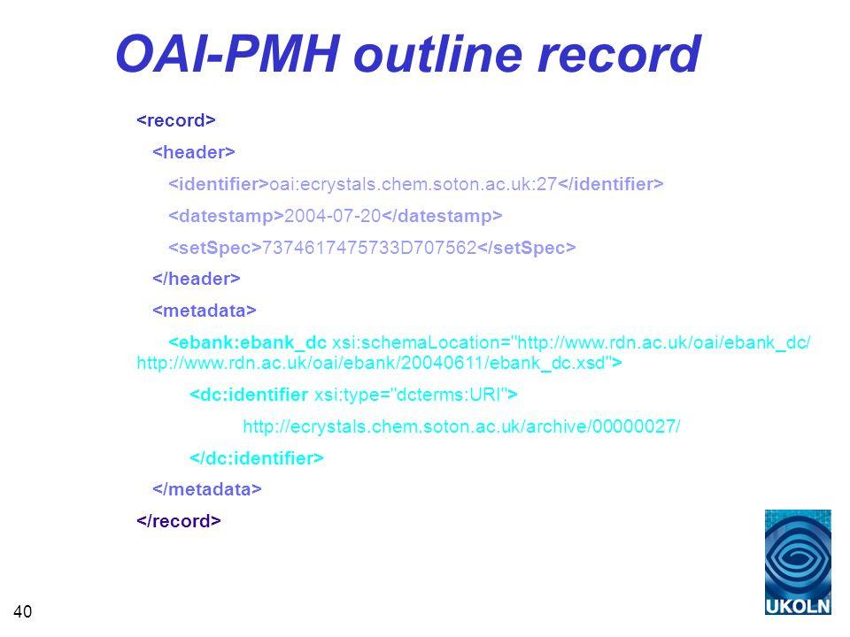 40 OAI-PMH outline record oai:ecrystals.chem.soton.ac.uk:27 2004-07-20 7374617475733D707562 http://ecrystals.chem.soton.ac.uk/archive/00000027/