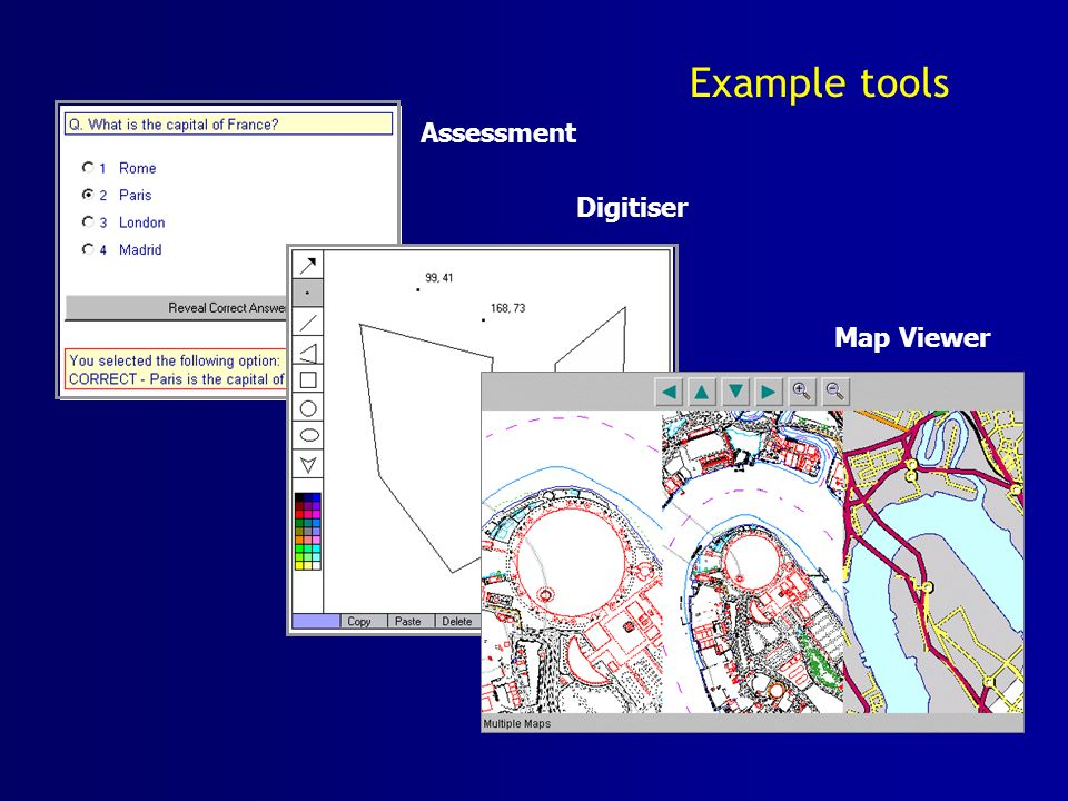 Assessment Example tools Digitiser Map Viewer