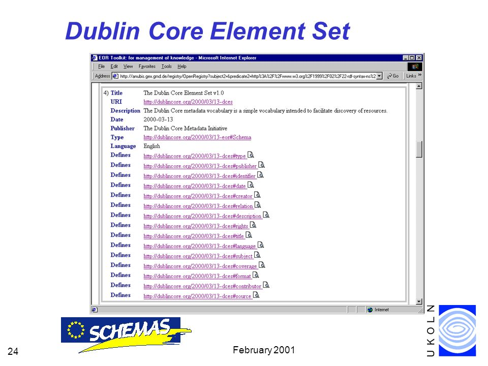 February Dublin Core Element Set