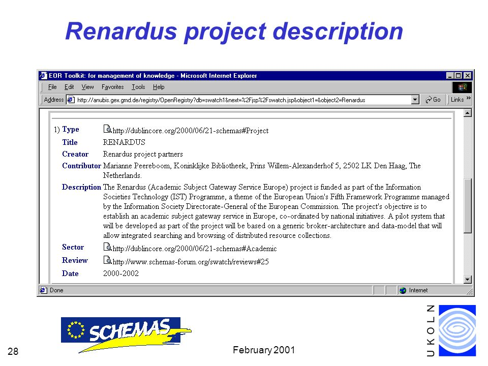 February Renardus project description