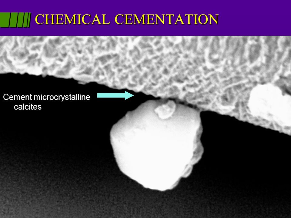 CHEMICAL CEMENTATION Humidity and pollutants may bind dust to underlying surfaces Cement microcrystalline calcites
