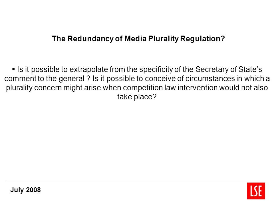 The Redundancy of Media Plurality Regulation.