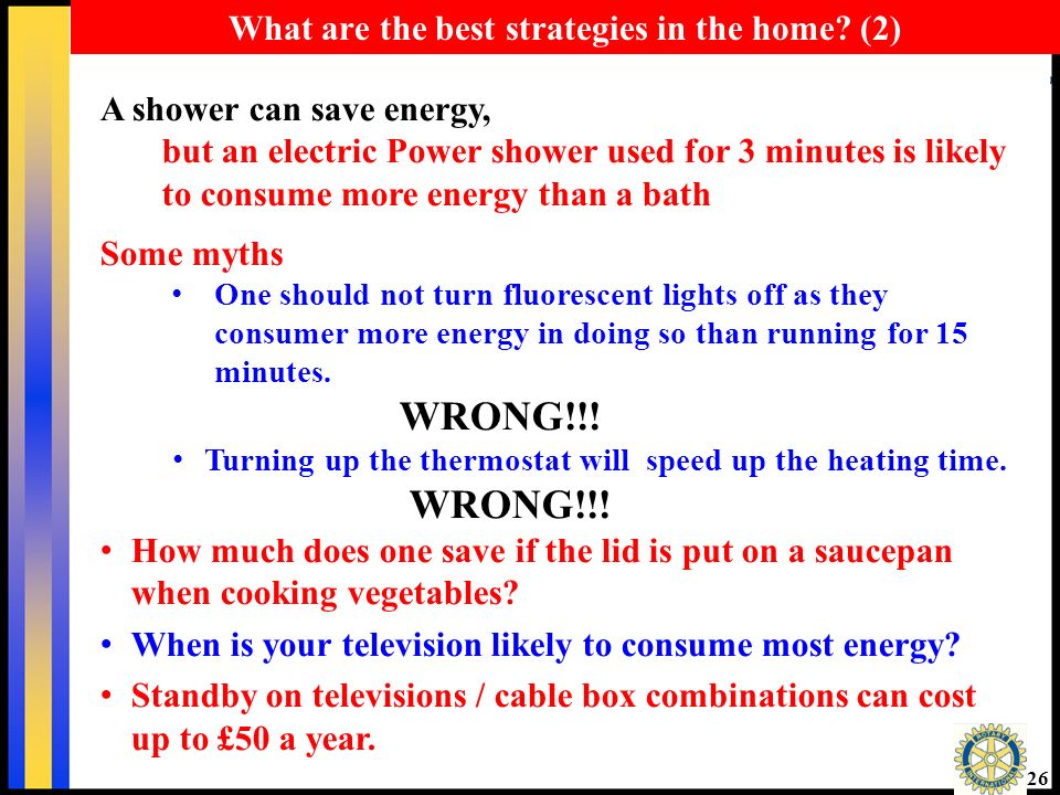 25 What are the best strategies in the home.