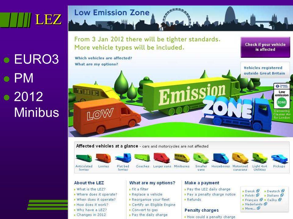 LEZ l EURO3 l PM l 2012 Minibus