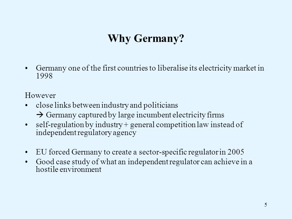 5 Why Germany.