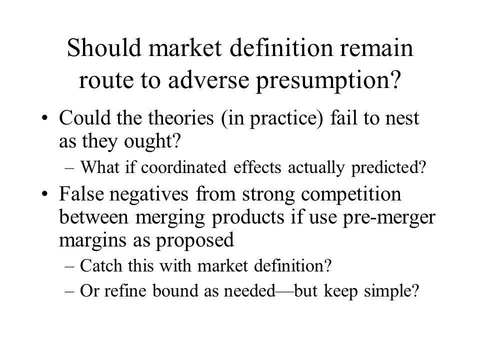 How can one not define market.