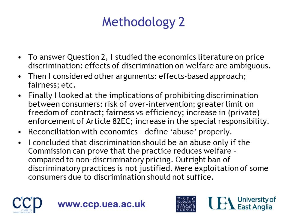 www.ccp.uea.ac.uk Lessons Learned… This paper was not in my research proposal for the PhD.