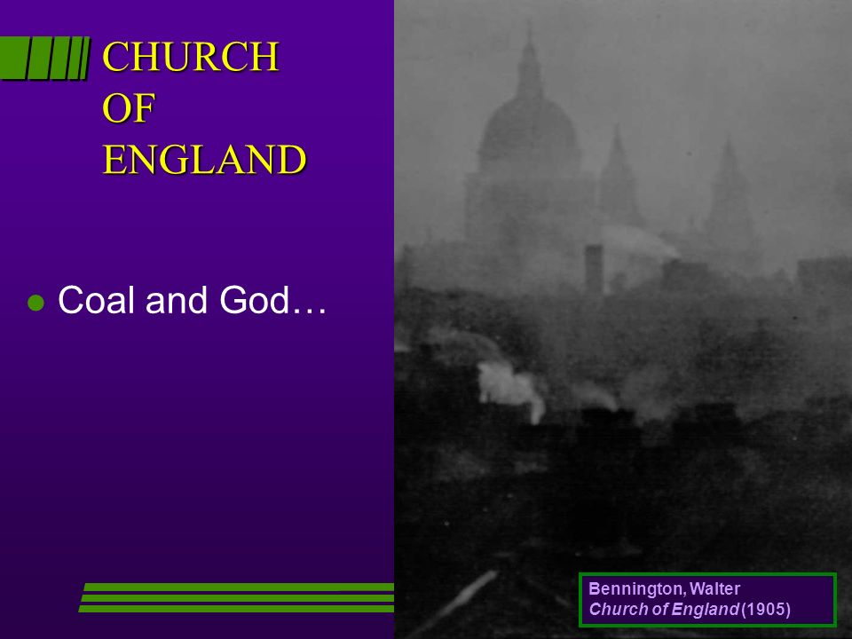 CHURCH OF ENGLAND l Coal and God… Bennington, Walter Church of England (1905)