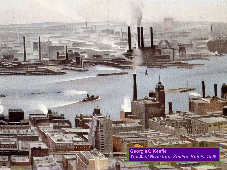 Georgia O Keeffe The East River from Shelton Hotels, 1928