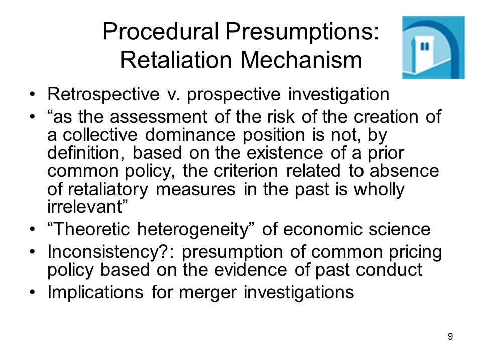 9 Procedural Presumptions: Retaliation Mechanism Retrospective v.