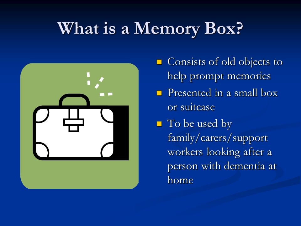 What is a Memory Box.