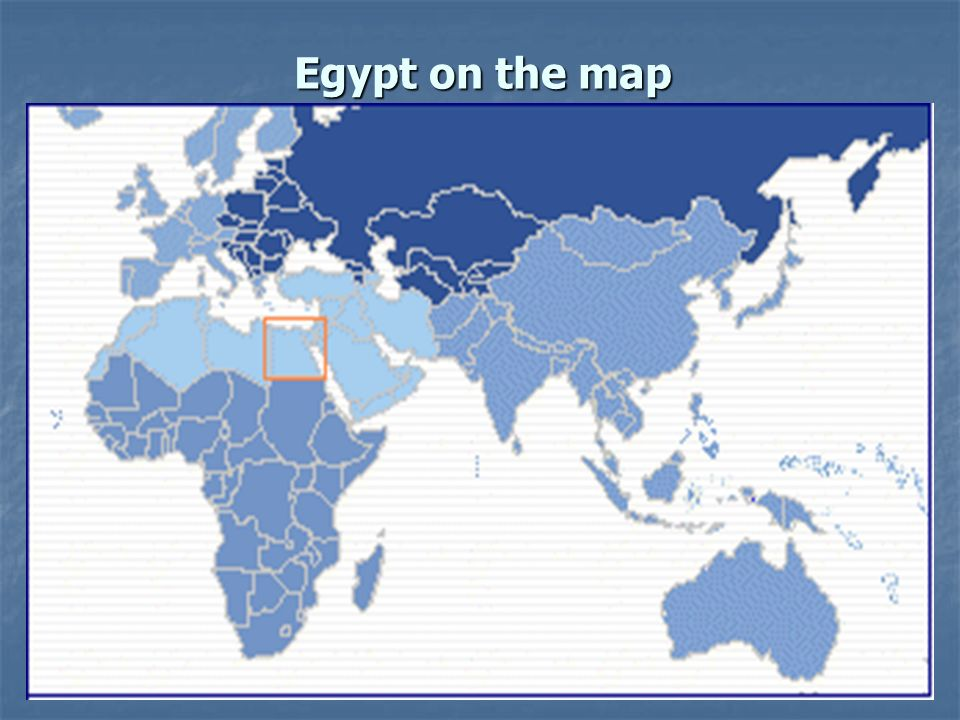 Egypt on the map
