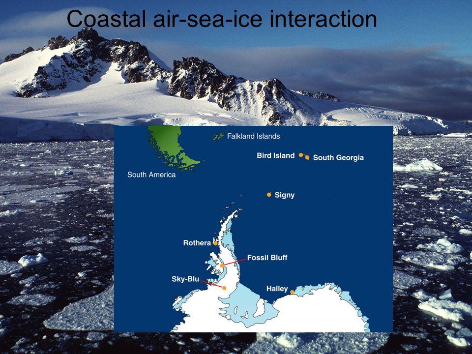 Coastal air-sea-ice interaction