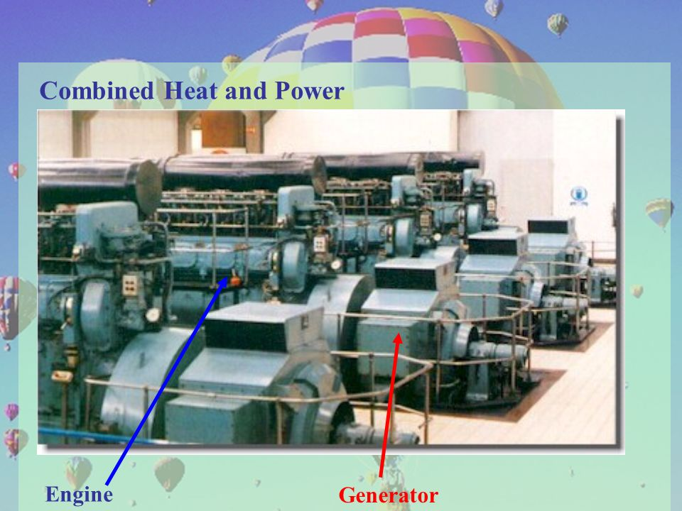 27 9. Applications of Thermodynamics. Combined Heat and Power Engine Generator