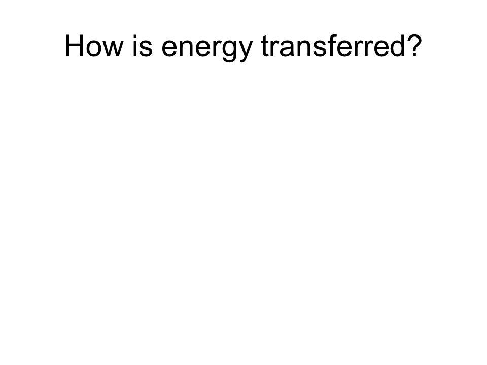 How is energy transferred?