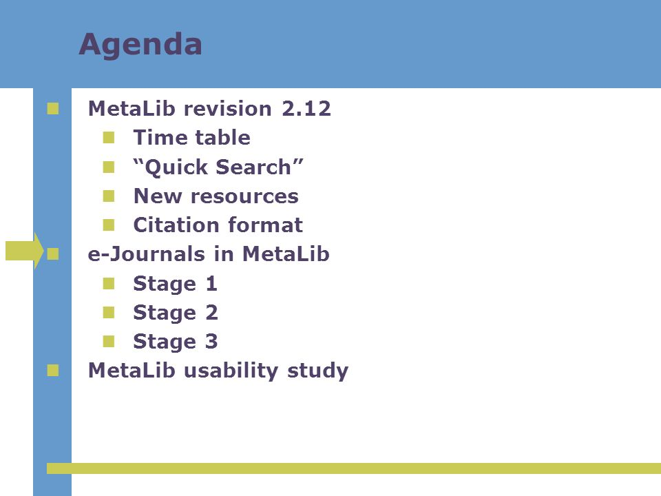 Phase 1: e-Journals in MetaLib version 2 Active e-journals are loaded from the SFX KnowledgeBase e-Journal Browser and e-Journal Locator My e-Journal List Link to e-journals or SFX services per e-journal Links are always via SFX
