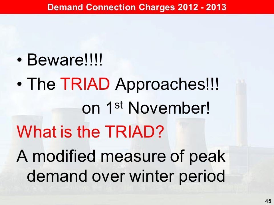 Beware!!!.The TRIAD Approaches!!. on 1 st November.