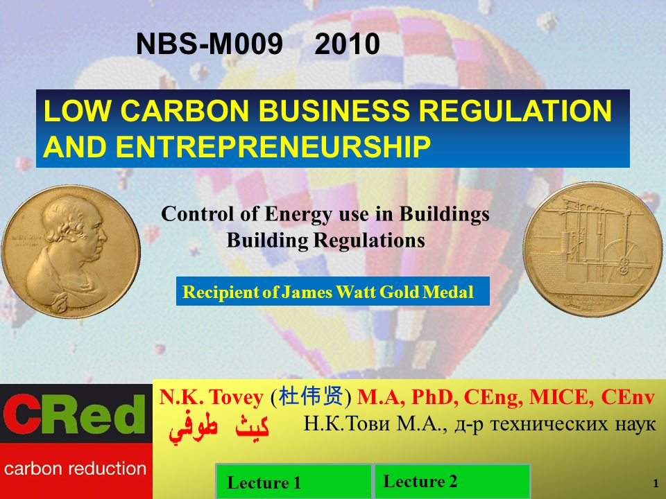 1 1 1 LOW CARBON BUSINESS REGULATION AND ENTREPRENEURSHIP N.K.