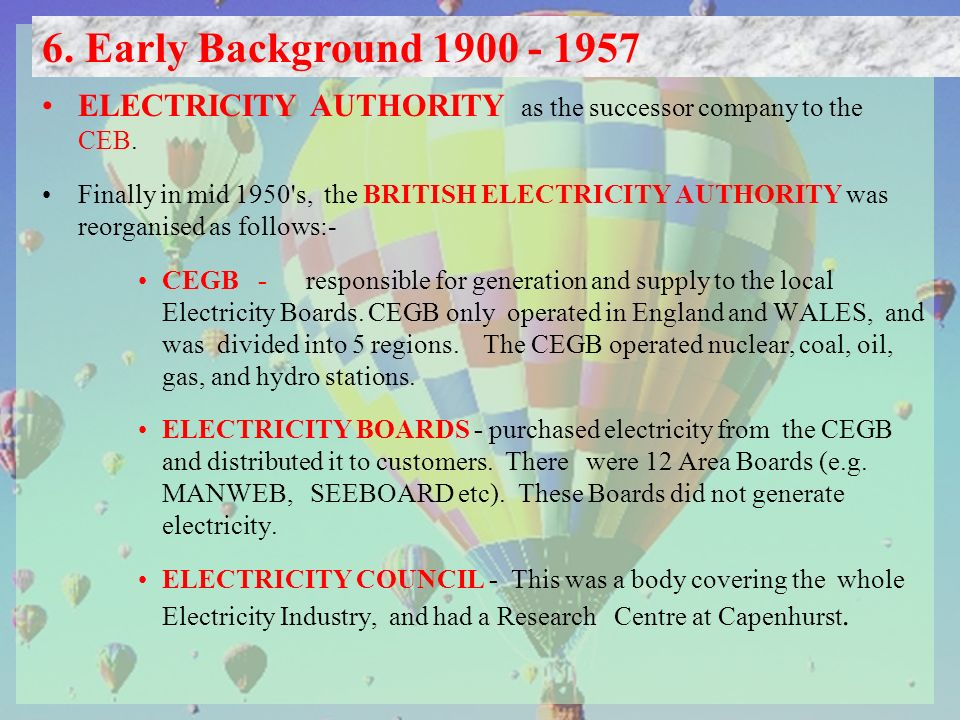 ELECTRICITY AUTHORITY as the successor company to the CEB.