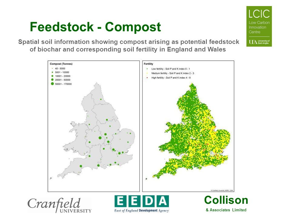 Collison & Associates Limited Feedstock - Compost Spatial soil information showing compost arising as potential feedstock of biochar and corresponding