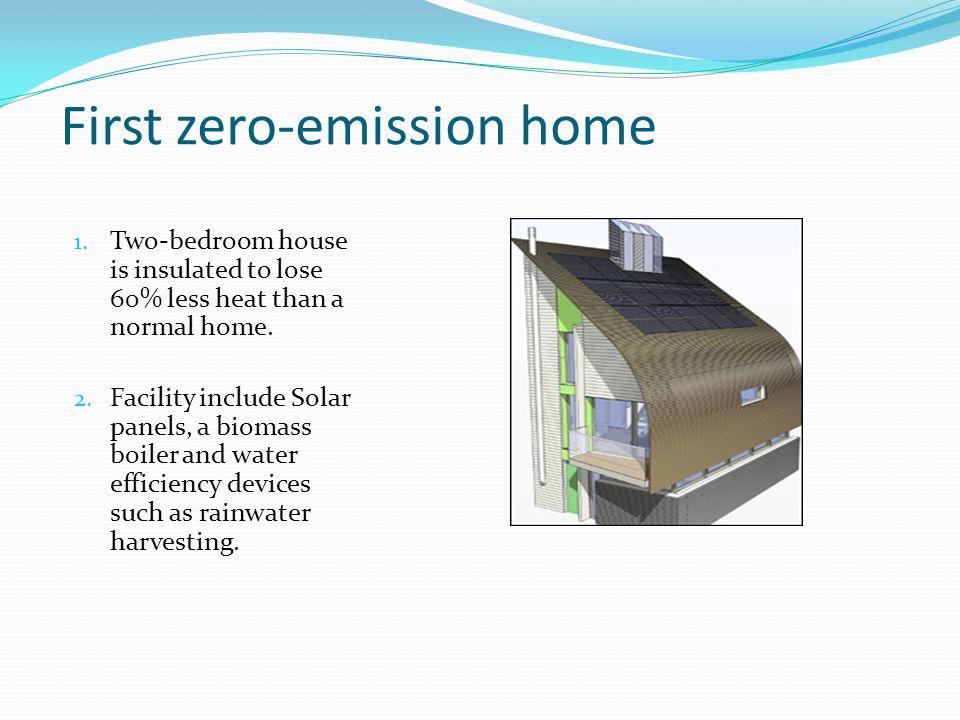First zero-emission home 1.