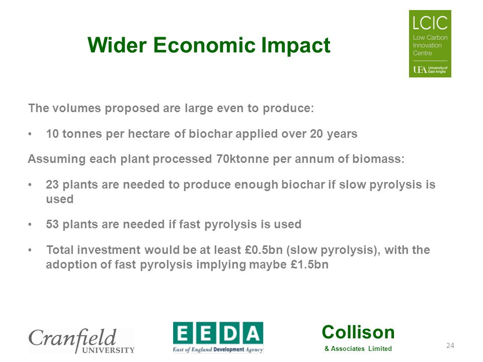 Collison & Associates Limited Wider Economic Impact A 5% uplift in regional agricultural output (& the associated food sector) implies a potential 5,000 job uplift.