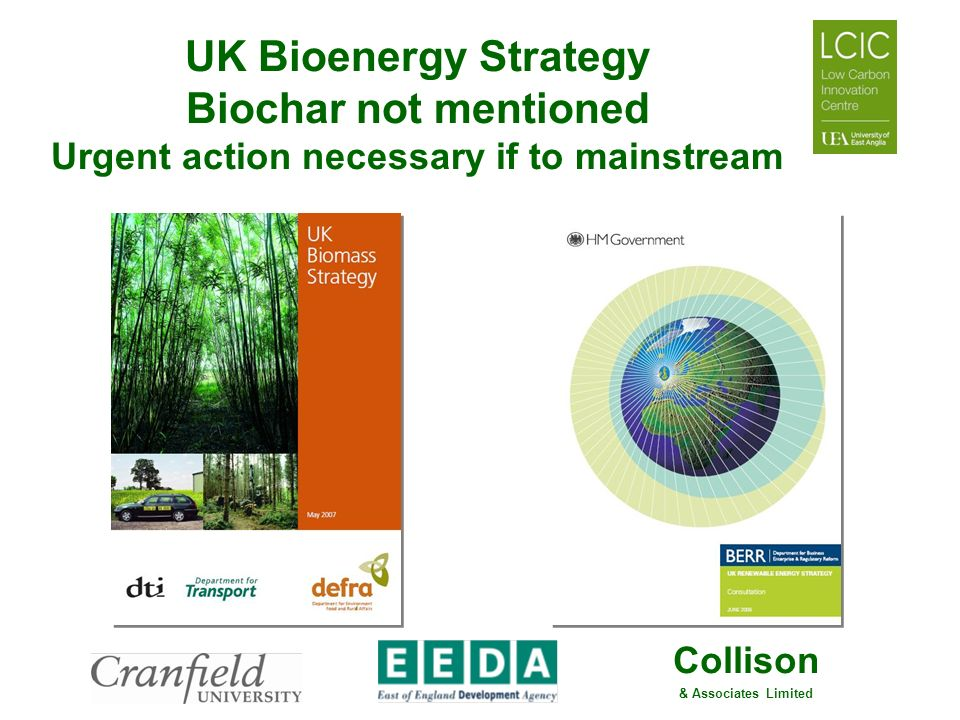 Collison & Associates Limited UK Bioenergy Strategy Biochar not mentioned Urgent action necessary if to mainstream