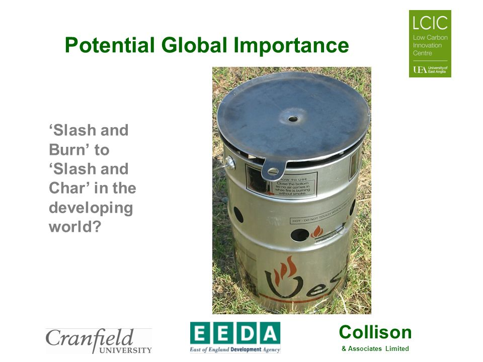 Collison & Associates Limited Potential Global Importance Slash and Burn to Slash and Char in the developing world?