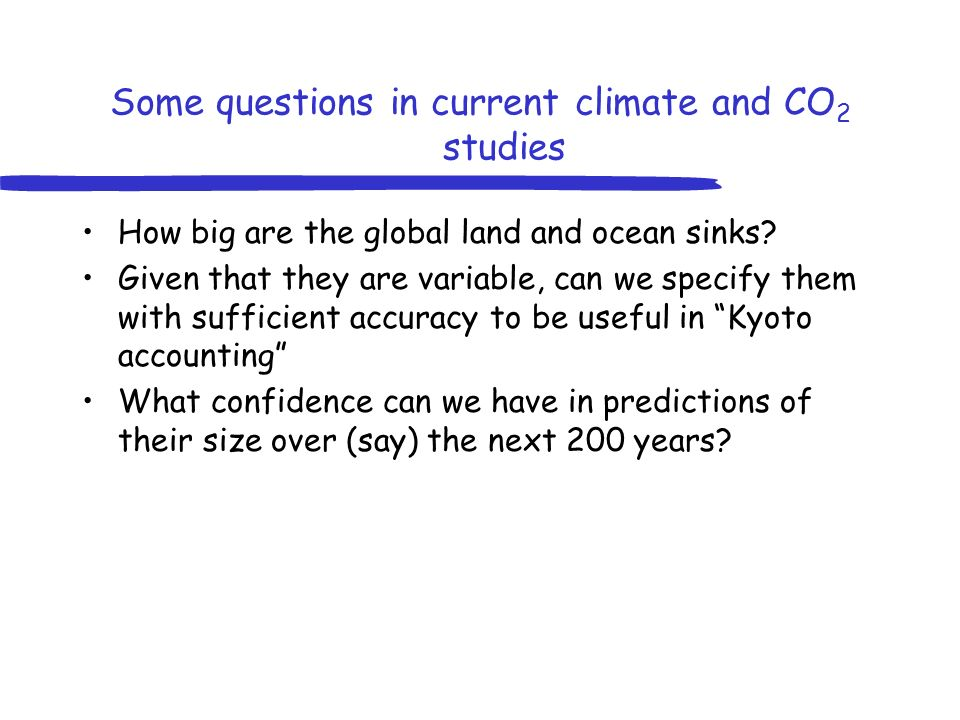 How big are the global land and ocean sinks.