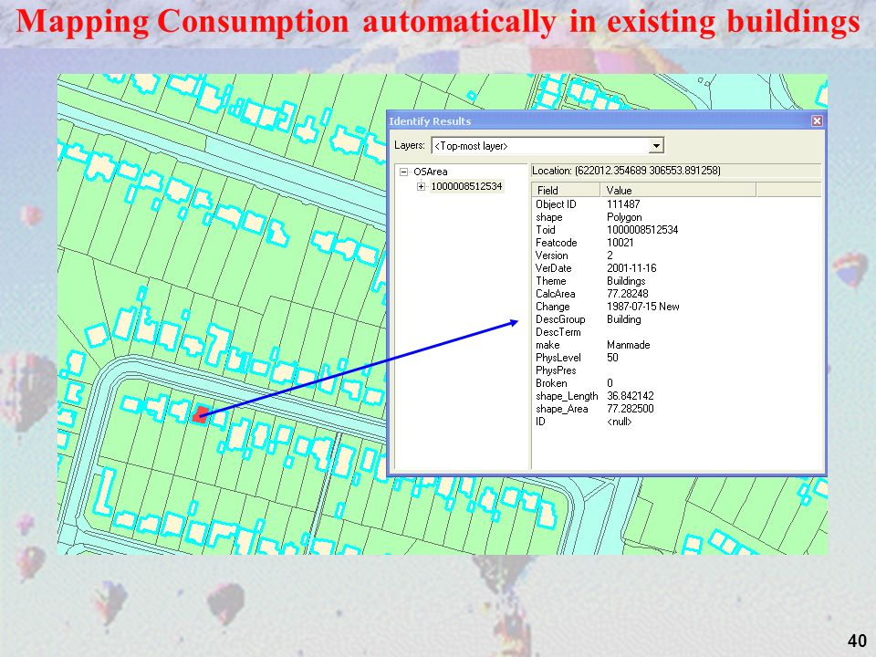 40 Storeys = 2 & options Mapping Consumption automatically in existing buildings