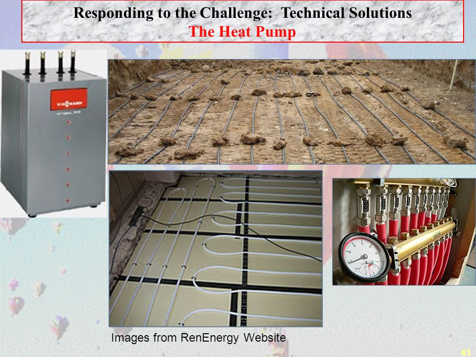 41 Responding to the Challenge: Technical Solutions The Heat Pump Images from RenEnergy Website