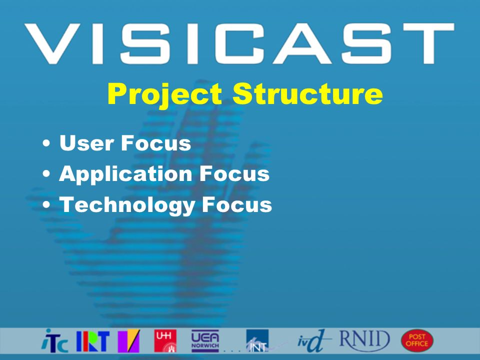 Project Structure User Focus Application Focus Technology Focus