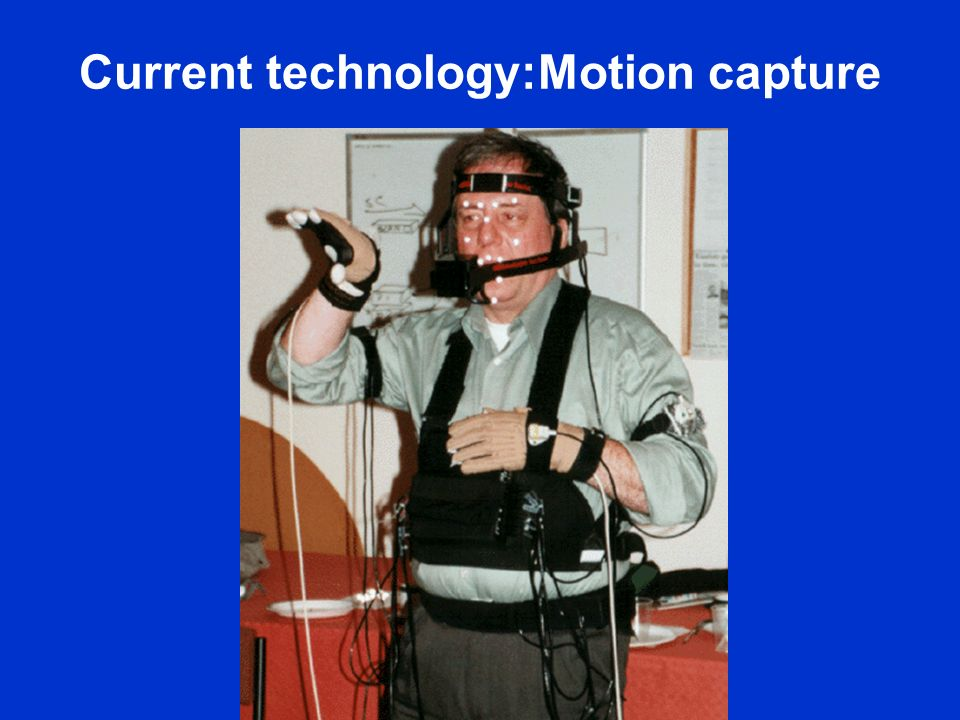 Current technology:Motion capture